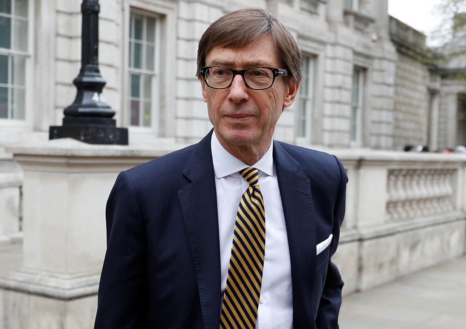German Ambassador to the UK Peter Wittig is seen outside the Cabinet Office as talks over Brexit continue, in London
