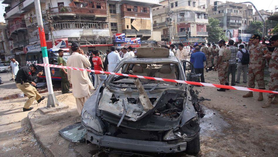 In Pakistans Hafenstadt Karatschi: Taliban haben einen Anschlag gegen einen hohen Richter verübt
