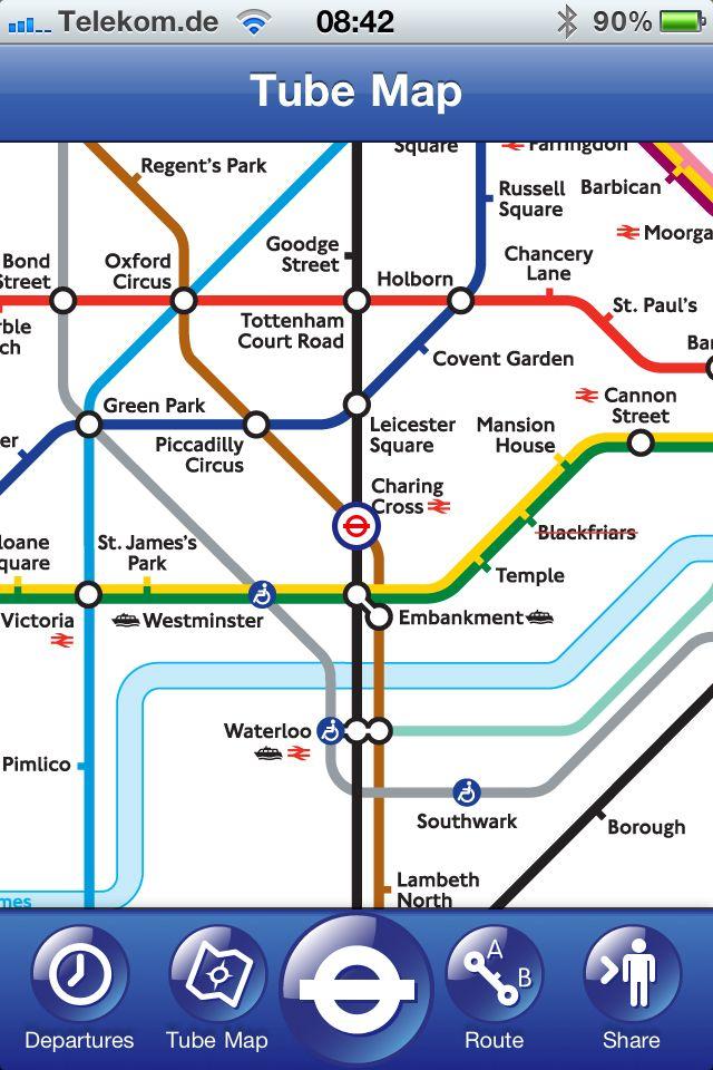 SCREENSHOT W-Lan / London / Tube Map