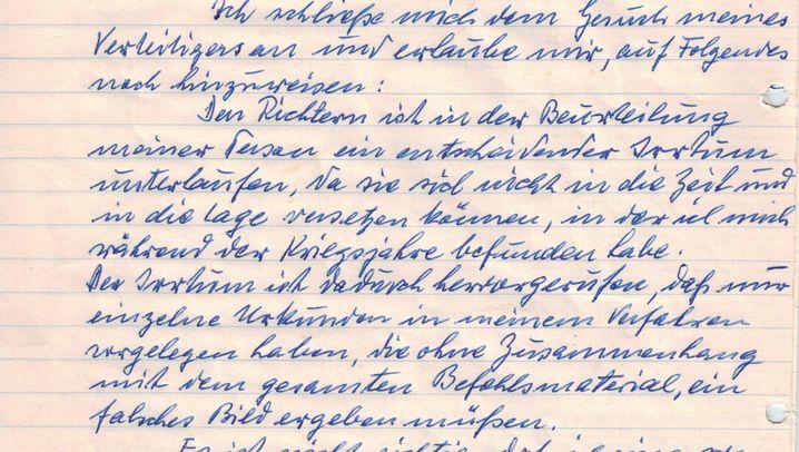 """Eichmanns Gnadengesuch: """"An den Herrn Staatspräsident"""""""