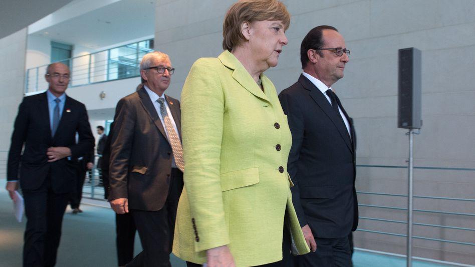 """Merkel und Hollande (am 1. Juni in Berlin): Telefonat """"in gutem Klima"""""""