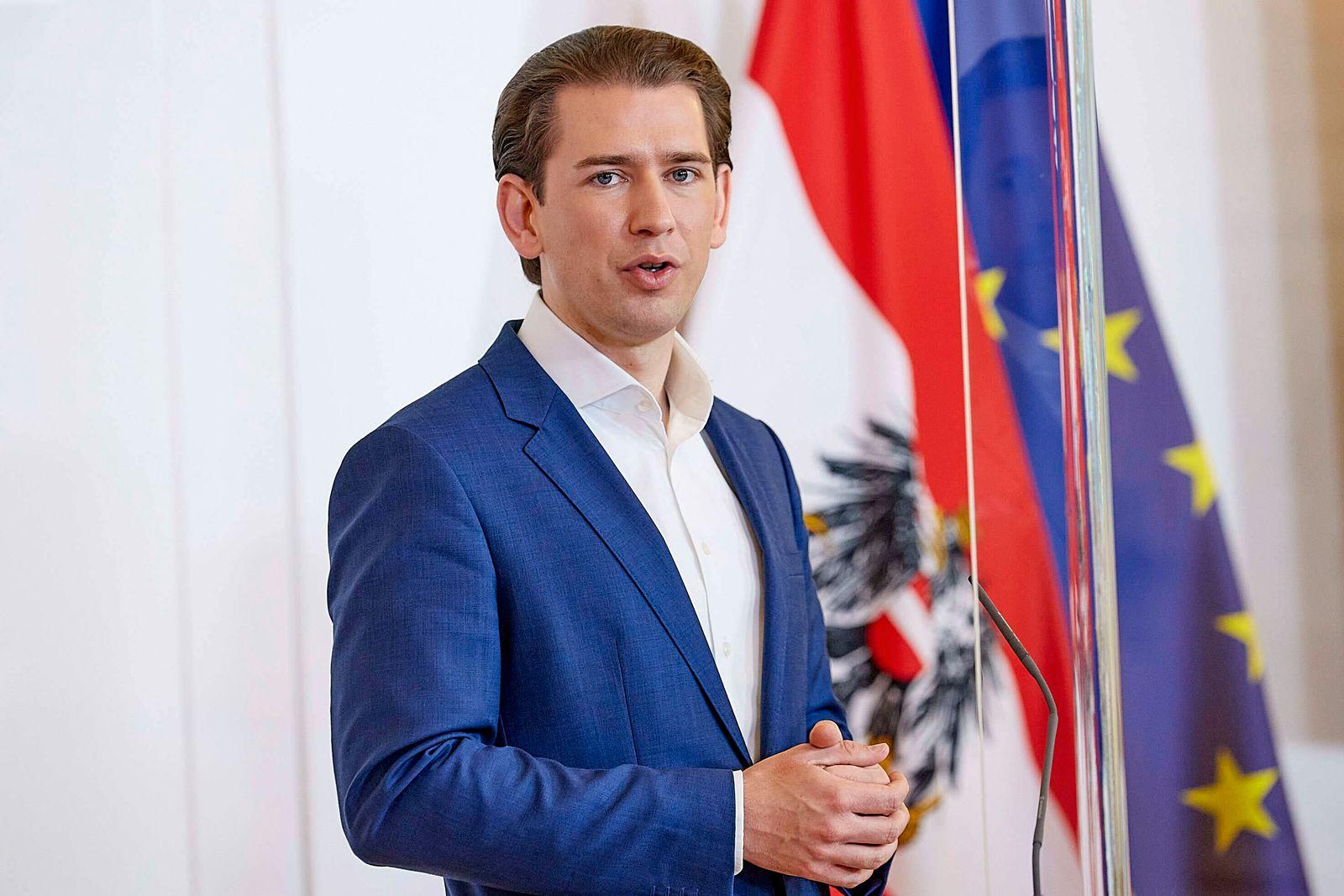 - Wien 21.05.2020 - Coronavirus Krise - Heute Mittag gab es im Bundeskanzleramt eine gemeinsame Pressekonferenz mit B