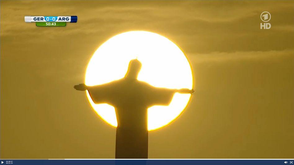 Jesus-Statue in Rio: Dieses Bild zeigte die ARD zweimal ausführlich