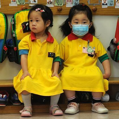 Kindergartenkinder in Hongkong: Ab sofort gilt Warnstufe 6 für die Schweinegrippe