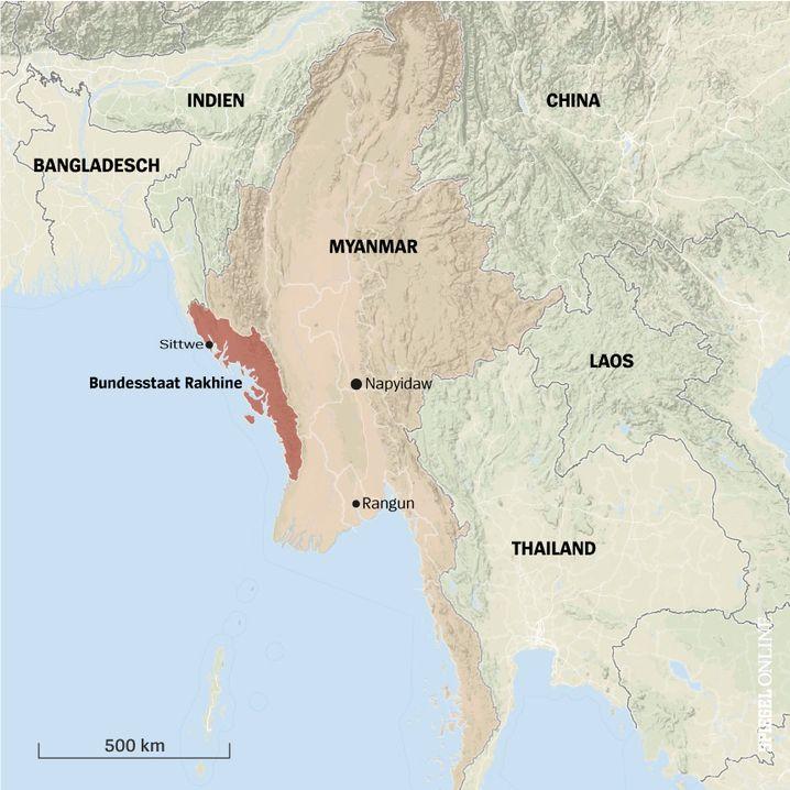 Myanmar Bundesstaat Rakhine