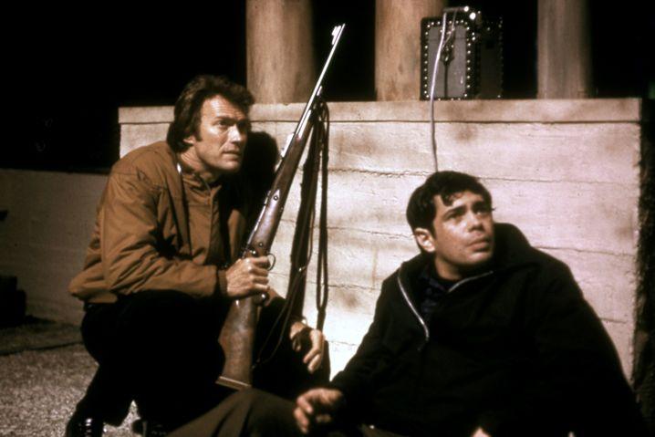 "Santoni mit Clint Eastwood in ""Dirty Harry"""