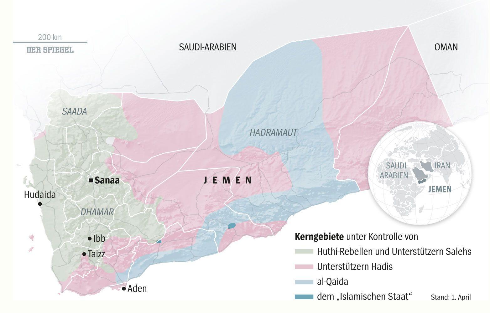 Jemen-Karte
