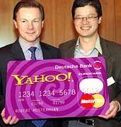 Deutsche-Bank-Vorstandssprecher Herbert Walter und Yahoo-Mitbegründer Jerry Yang