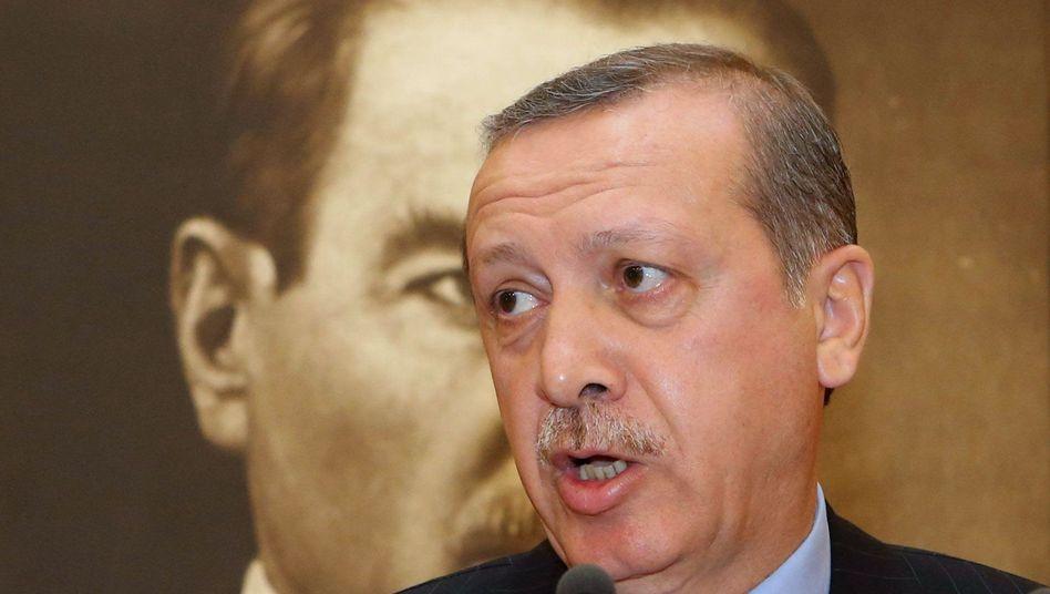 Turkish Prime Minister Recep Tayyip Erdogan speaks to the media in Istanbul on June 3.