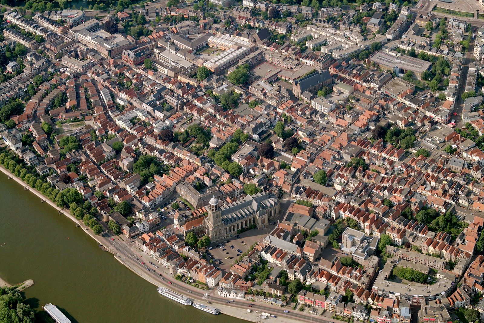 Aerial View Of Old Town, Deventer