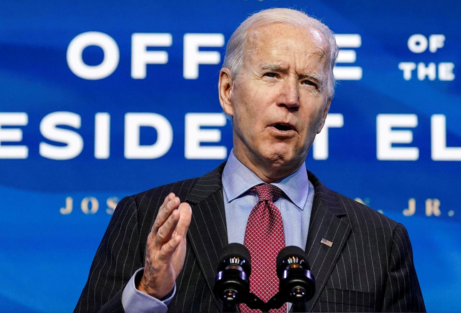 FILE PHOTO: U.S. President-elect Joe Biden announces economics and jobs team nominees at transition headquarters in Wilmington, Delaware