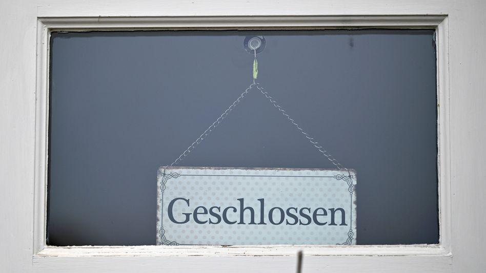 Geschlossenes Geschäft in Thüringen: Noch kommen viele Unternehmen glimpflich durch die Coronakrise