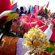 Cultural politics: Kurds in Diyarbakir, Turkey, celebrate Nawroz, the Kurdish new year, in March 2004. A boys' choir from Diyarbakir is now on trial for singing a Kurdish song at a festival in the United States.