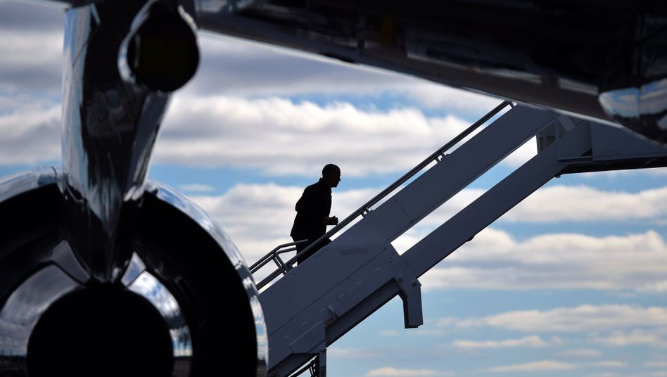 Germany's Messiah boarding Air Force One.
