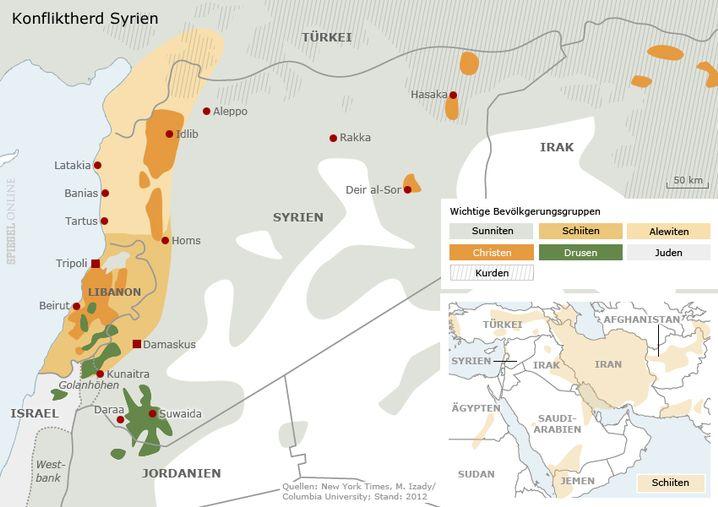 Flächenbrand Syrien: Der Bürgerkrieg befeuert Konflikte in den Nachbarstaaten