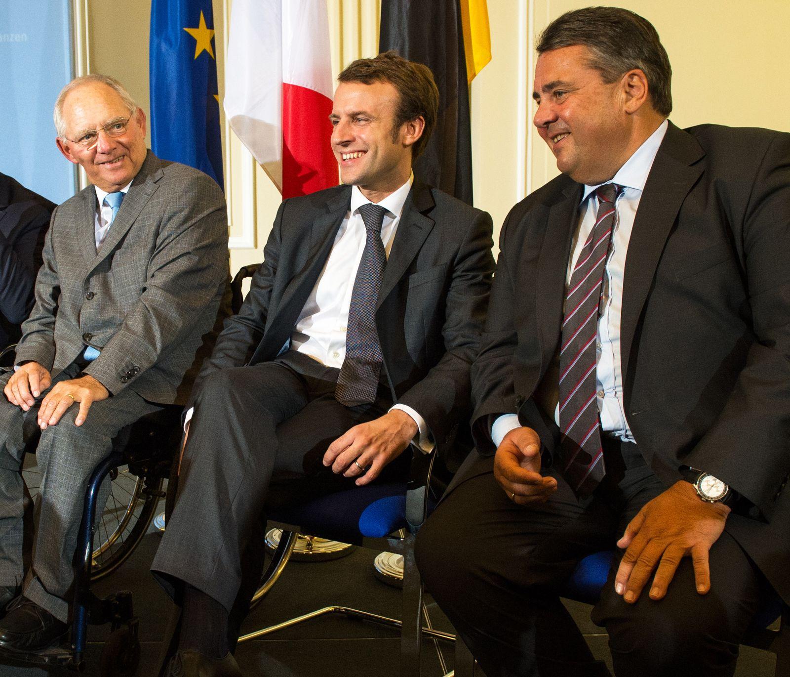 Macron / Schäuble / Gabriel
