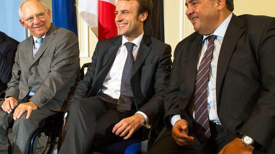 Macron und Gabriel (Archiv)