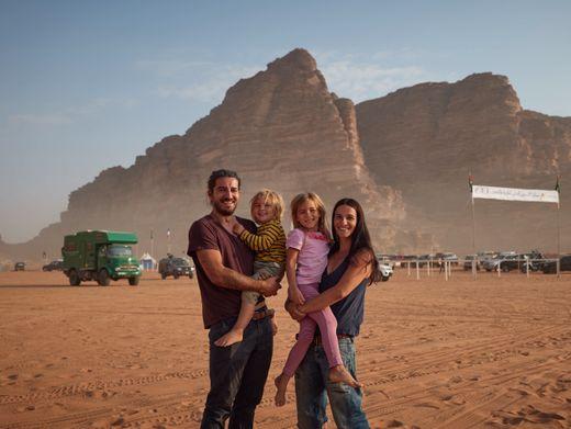 Die Schmitts im Wadi Rum: Ein Familienabenteuer