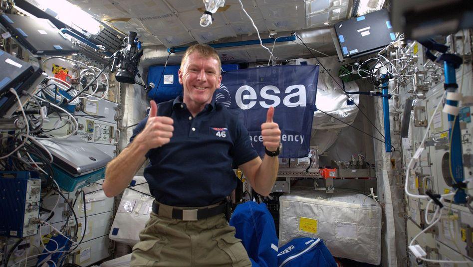 """Britischer Astronaut Peake auf der ISS: """"Ich möchte mich entschuldigen"""""""