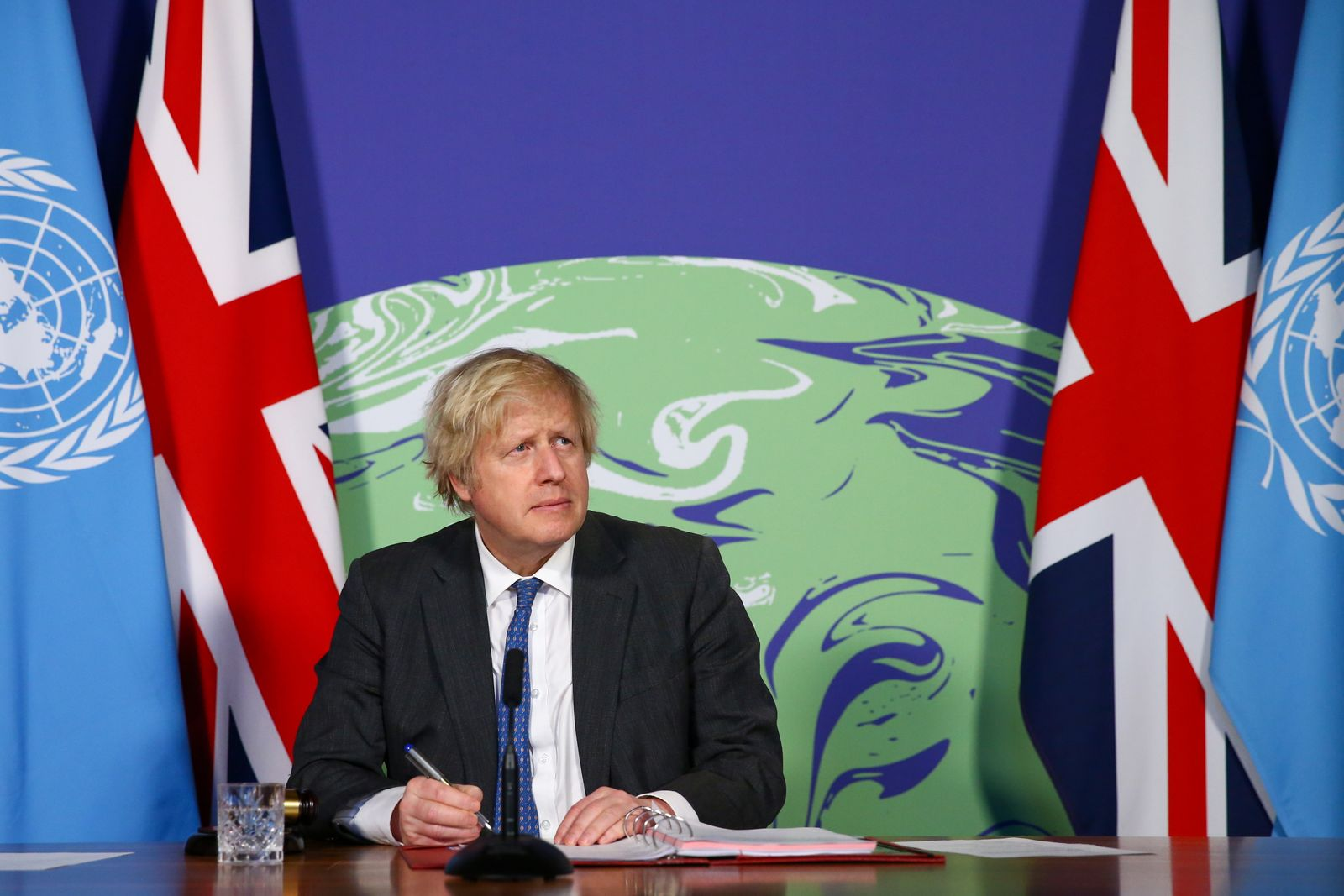 British PM Boris Johnson chairs UN Security Council on climate and security