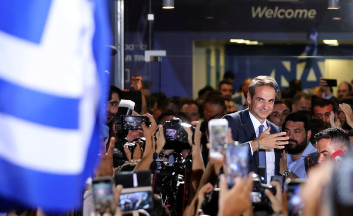 Mitsotakis am Wahlabend in Athen