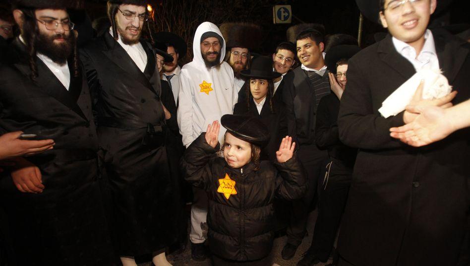 Junge mit Judenstern: Protest gegen Israels Regierung