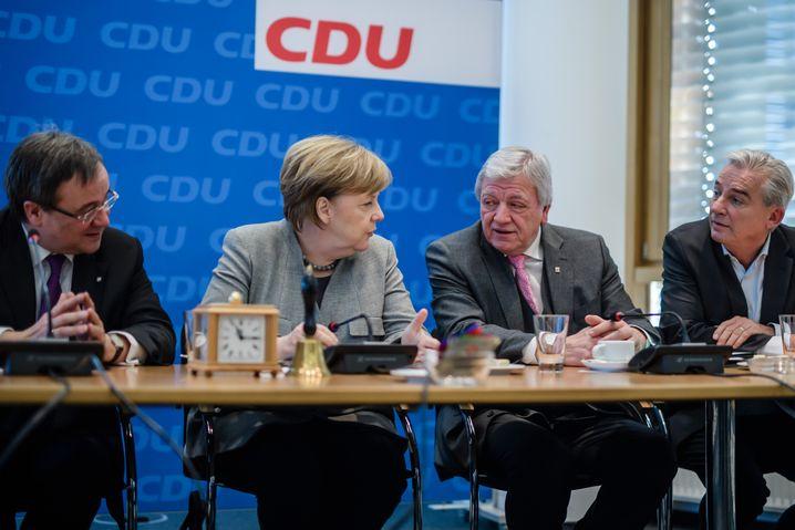 Merkel und Bouffier