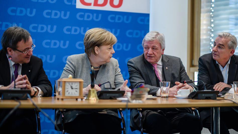 Angela Merkel und führende CDU-Politiker