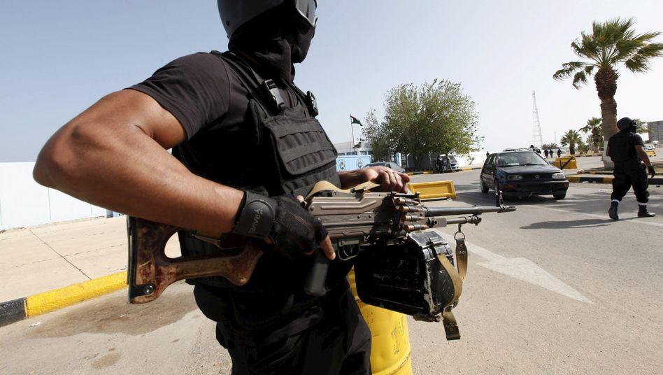 Bodyguard der neuen libyschen Einheitsregierung in Tripolis