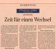 """FTD-Wahlempfehlung: """"Zeit für einen Wechsel"""""""