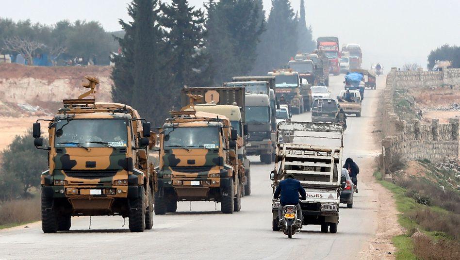 Türkische Truppen in Idlib vergangene Woche