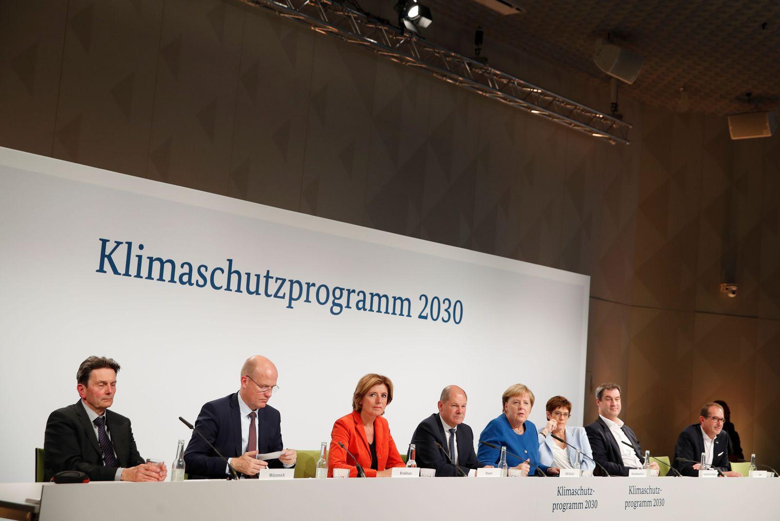 Klimaschutzprogramm/ GroKo/ Klimapaket/ 2019