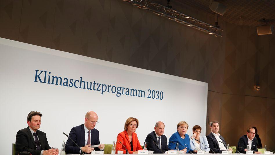 """GroKo-Verhandler Brinkhaus, Dreyer, Scholz, Merkel, Kramp-Karrenbauer, Söder, Dobrindt: """"Klares Nein"""""""