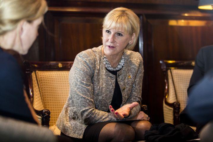 Wallström im Interview mit SPIEGEL-ONLINE-Redakteuren in Berlin