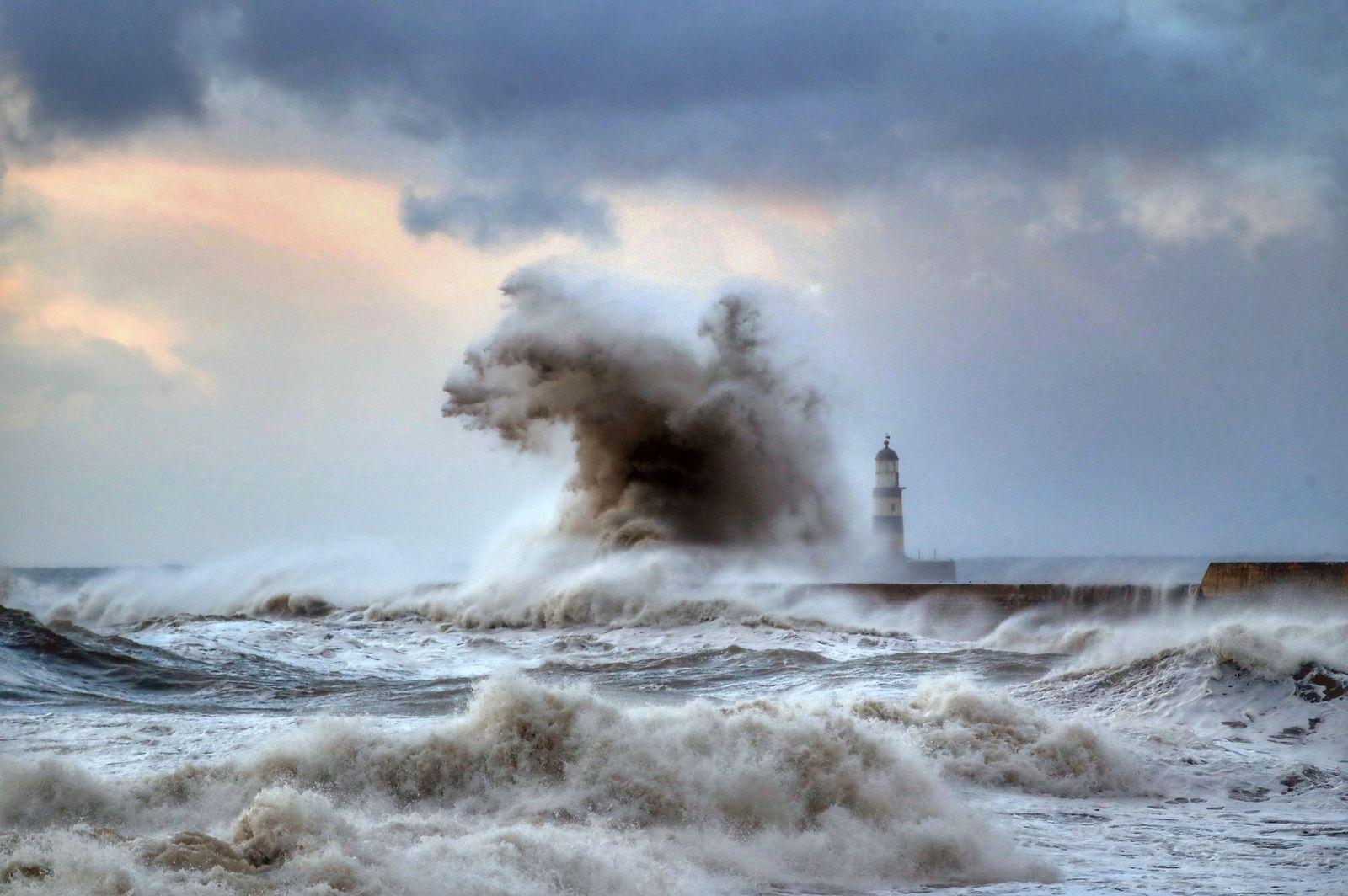 Wellen vor Großbritannien