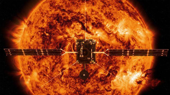 Sonde vor der Sonne: Illustration der Nasa