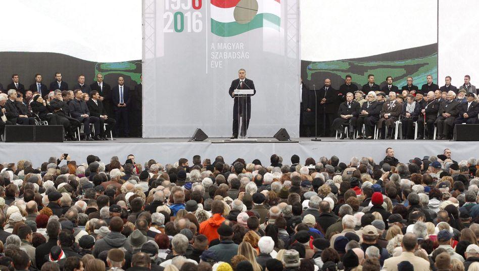 Viktor Orbán bei seiner Rede