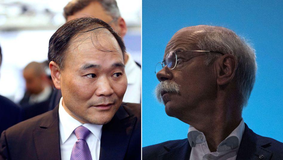 Geely-Eigner Li Shufu und Daimler-Chef Dieter Zetsche