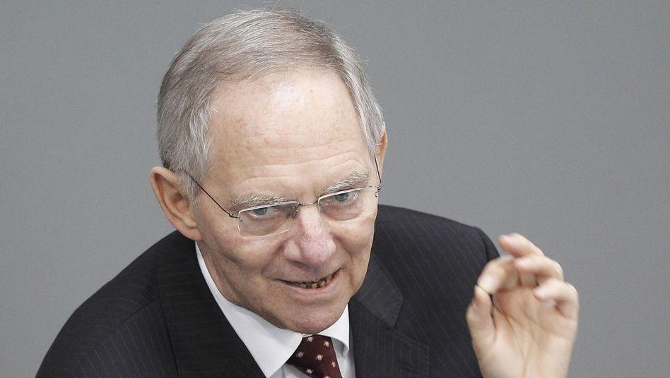 Wolfgang Schäuble: Krisenverstärkende Transaktionen verbieten