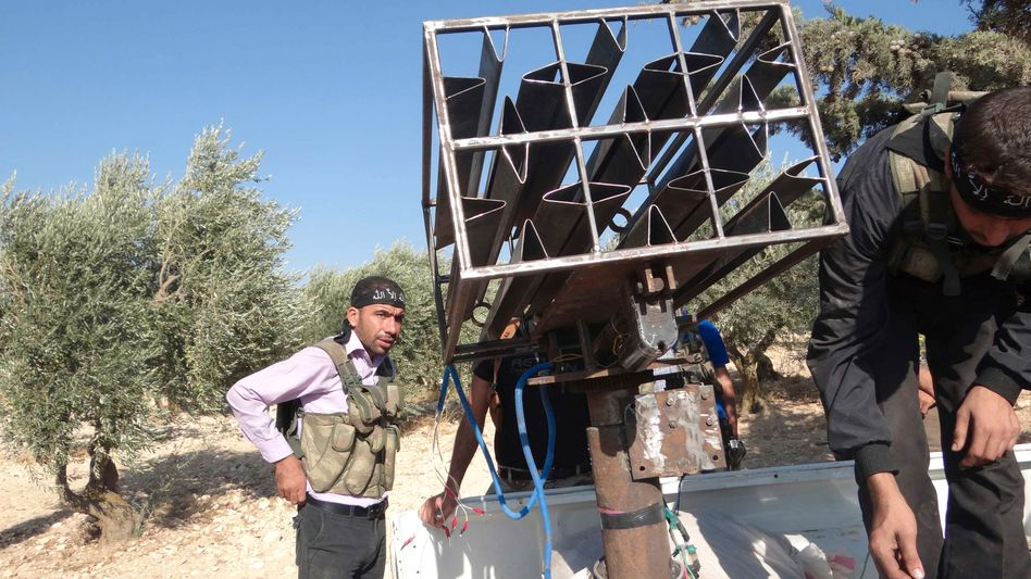 """Rebellen mit selbstgebautem Raketenwerfer: """"Gruppen, die wir nicht haben wollen"""""""