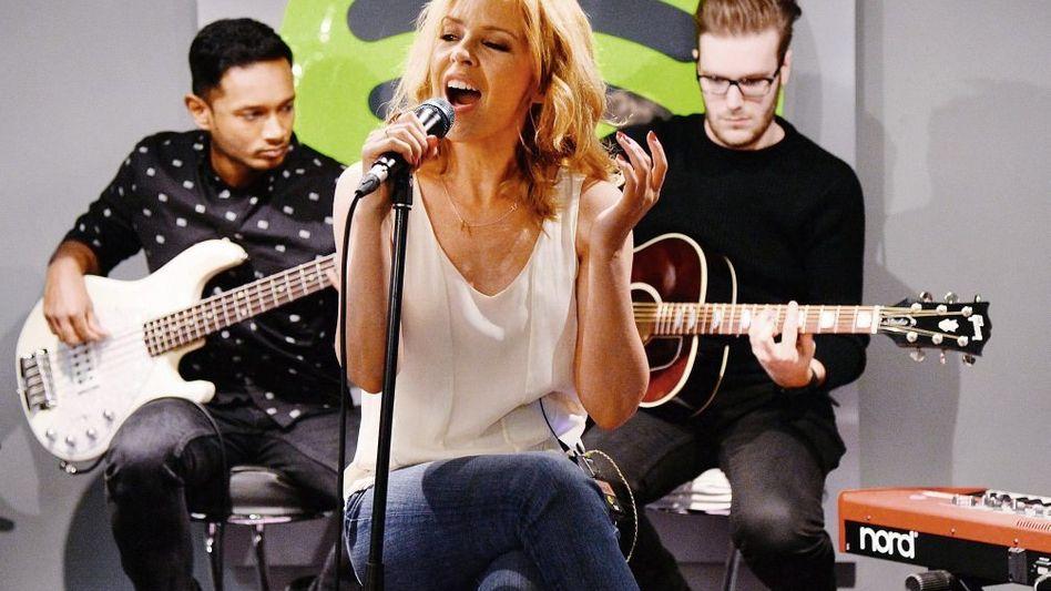Sängerin Kylie Minogue bei einem Spotify-Event im Februar in London