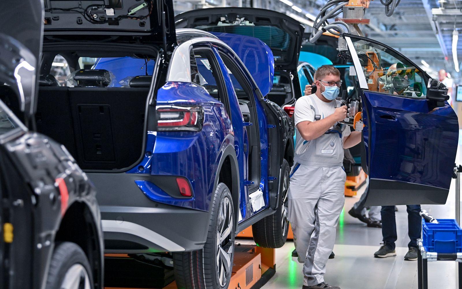 Produktion des ID.4 bei Volkswagen
