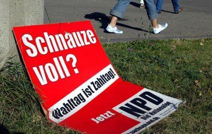 NPD: In Sachsen fast so stark wie die SPD