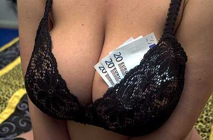 Prices for erotic services have dropped amid growing competition.