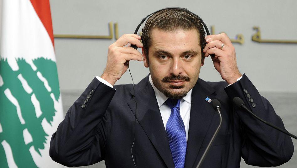 Libanons Ministerpräsident Saad al-Hariri: Von der Hisbollah bedrängt