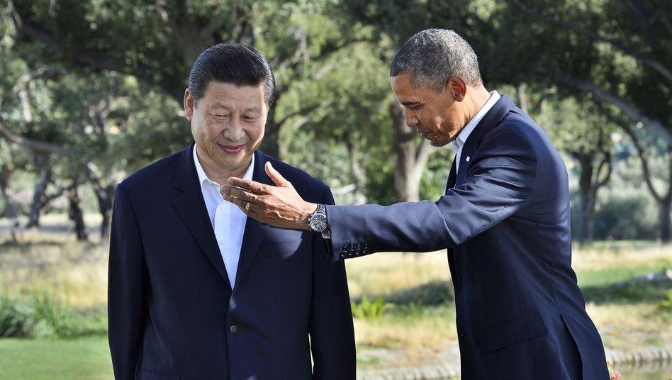 Chinas Staatschef Xi (l.), US-Präsident Obama: Volksrepublik im Visier der NSA