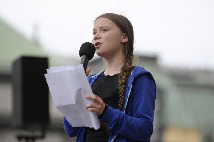 Greta Thunberg in Stockholm