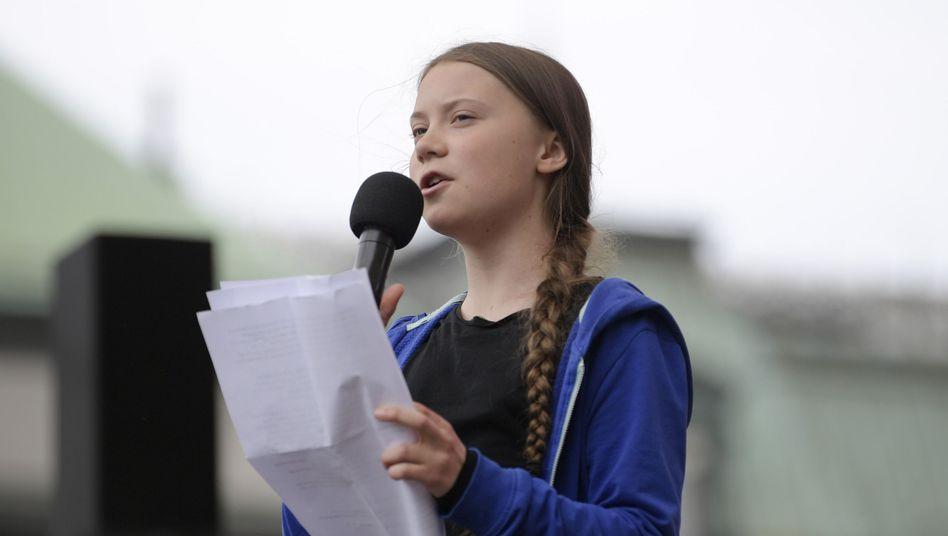 """Greta Thunberg bei einer Rede in Stockholm: Auszeichnung für """"Standhaftigkeit und Aufrichtigkeit"""""""
