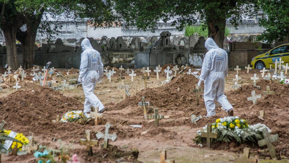 Friedhof im brasilianischen Sao Paulo: Tausende neue Gräber für Covid-19-Verstorbene
