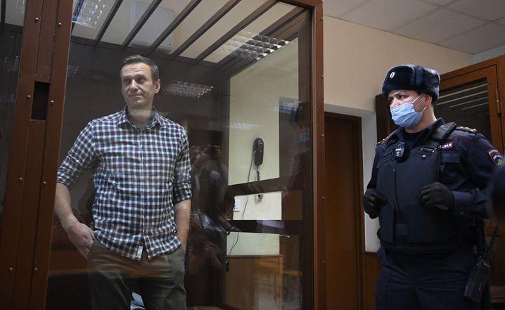 Alexej Nawalny am 20. Februar im Gericht